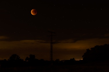 Super-Ernte-Blut-Vollmond