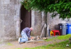 Man at work - Athenry Abbey
